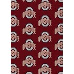 "Milliken College Repeating (NCAA) Ohio State 01000 Repeat Rectangle (4000018748) 3'10"" x 5'4"" Area Rug"