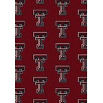 "Milliken College Repeating (NCAA) Texas Tech 01440 Repeat Rectangle (4000018806) 3'10"" x 5'4"" Area Rug"