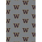 "Milliken College Repeating (NCAA) Washington 01464 Repeat Rectangle (4000018955) 7'8"" x 10'9"" Area Rug"