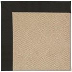 Capel Rugs Creative Concepts Cane Wicker - Canvas Black (314) Octagon 4' x 4' Area Rug