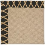 Capel Rugs Creative Concepts Cane Wicker - Bamboo Coal (356) Octagon 4' x 4' Area Rug