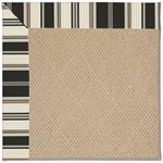 Capel Rugs Creative Concepts Cane Wicker - Down The Lane Ebony (370) Octagon 4' x 4' Area Rug