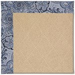 Capel Rugs Creative Concepts Cane Wicker - Paddock Shawl Indigo (475) Octagon 4' x 4' Area Rug