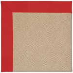 Capel Rugs Creative Concepts Cane Wicker - Canvas Jockey Red (527) Octagon 4' x 4' Area Rug