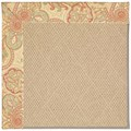 Capel Rugs Creative Concepts Cane Wicker - Paddock Shawl Persimmon (810) Octagon 4