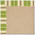 Capel Rugs Creative Concepts Cane Wicker - Tux Stripe Green (214) Octagon 6