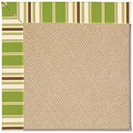 Capel Rugs Creative Concepts Cane Wicker - Tux Stripe Green (214) Octagon 6' x 6' Area Rug