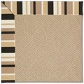 Capel Rugs Creative Concepts Cane Wicker - Granite Stripe (335) Octagon 6