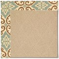 Capel Rugs Creative Concepts Cane Wicker - Shoreham Spray (410) Octagon 6