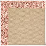 Capel Rugs Creative Concepts Cane Wicker - Imogen Cherry (520) Octagon 6' x 6' Area Rug