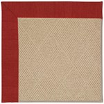 Capel Rugs Creative Concepts Cane Wicker - Canvas Cherry (537) Octagon 6' x 6' Area Rug