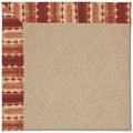 Capel Rugs Creative Concepts Cane Wicker - Java Journey Henna (580) Octagon 6