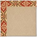 Capel Rugs Creative Concepts Cane Wicker - Shoreham Brick (800) Octagon 6