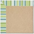 Capel Rugs Creative Concepts Cane Wicker - Capri Stripe Breeze (430) Octagon 8