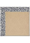 Capel Rugs Creative Concepts Cane Wicker - Coral Cascade Navy (450) Octagon 8' x 8' Area Rug