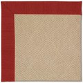 Capel Rugs Creative Concepts Cane Wicker - Canvas Cherry (537) Octagon 10
