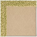 Capel Rugs Creative Concepts Cane Wicker - Coral Cascade Avocado (225) Octagon 12