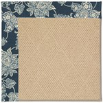 "Capel Rugs Creative Concepts Cane Wicker - Bandana Indigo (465) Runner 2' 6"" x 8' Area Rug"