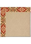 Capel Rugs Creative Concepts Cane Wicker - Shoreham Brick (800) Rectangle 8' x 8' Area Rug