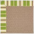 Capel Rugs Creative Concepts Grassy Mountain - Tux Stripe Green (214) Octagon 4