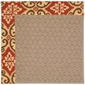 Capel Rugs Creative Concepts Grassy Mountain - Shoreham Brick (800) Octagon 6