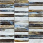 Anatolia Bliss Baroque Glass Mosaic Random Stacked : Corallo 35-078