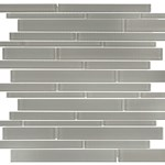 Anatolia Bliss Element Glass Mosaic Random Strip : Smoke 35-059