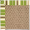 Capel Rugs Creative Concepts Raffia - Tux Stripe Green (214) Octagon 4