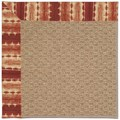 Capel Rugs Creative Concepts Raffia - Java Journey Henna (580) Octagon 4