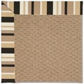 Capel Rugs Creative Concepts Raffia - Granite Stripe (335) Octagon 6
