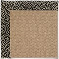 Capel Rugs Creative Concepts Raffia - Wild Thing Onyx (396) Octagon 6