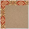 Capel Rugs Creative Concepts Raffia - Shoreham Brick (800) Octagon 6
