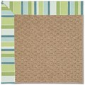 Capel Rugs Creative Concepts Raffia - Capri Stripe Breeze (430) Octagon 8
