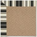 Capel Rugs Creative Concepts Raffia - Down The Lane Ebony (370) Octagon 12