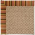 Capel Rugs Creative Concepts Raffia - Tuscan Stripe Adobe (825) Rectangle 3