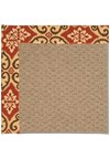 Capel Rugs Creative Concepts Raffia - Shoreham Brick (800) Rectangle 4' x 6' Area Rug