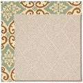 Capel Rugs Creative Concepts White Wicker - Shoreham Spray (410) Octagon 4
