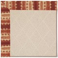 Capel Rugs Creative Concepts White Wicker - Java Journey Henna (580) Octagon 4