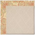 Capel Rugs Creative Concepts White Wicker - Paddock Shawl Persimmon (810) Octagon 4