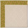 Capel Rugs Creative Concepts White Wicker - Bamboo Tea Leaf (236) Octagon 6