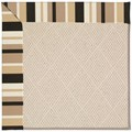 Capel Rugs Creative Concepts White Wicker - Granite Stripe (335) Octagon 6