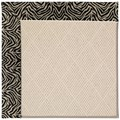 Capel Rugs Creative Concepts White Wicker - Wild Thing Onyx (396) Octagon 6