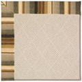 Capel Rugs Creative Concepts White Wicker - Kalani Coal (330) Octagon 8