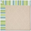 Capel Rugs Creative Concepts White Wicker - Capri Stripe Breeze (430) Octagon 8