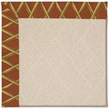 Capel Rugs Creative Concepts White Wicker - Bamboo Cinnamon (856) Octagon 8