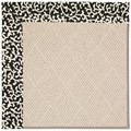 Capel Rugs Creative Concepts White Wicker - Coral Cascade Ebony (385) Octagon 10