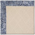 Capel Rugs Creative Concepts White Wicker - Paddock Shawl Indigo (475) Octagon 10