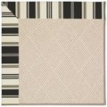 Capel Rugs Creative Concepts White Wicker - Down The Lane Ebony (370) Octagon 12