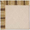 Capel Rugs Creative Concepts White Wicker - Java Journey Chestnut (750) Octagon 12