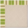 Capel Rugs Creative Concepts White Wicker - Tux Stripe Green (214) Rectangle 4